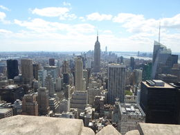 Blick vom Top of the Rock Richtung Downtown Manhattan , fam.schauf - August 2015