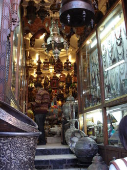 Browsing the souks in Marrakech, Cat - January 2012