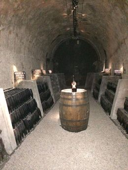Champagne not quite ready in the cellars at Mumm. , irishgal76 - July 2014
