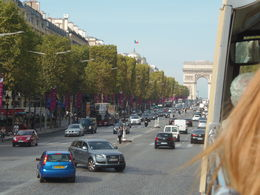 Photo of   Looking towards Arc De Triomphe, riding the CHamps Elysee