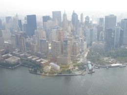 View from helicopter above Hudson River., S J M - August 2008