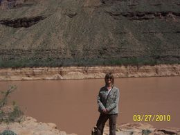 Standing at the edge of the Colorado river, Bob T - April 2010