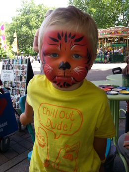 My grandchild was painted as a tiger, and it was the highlight of the visite , Eldrid A - August 2013