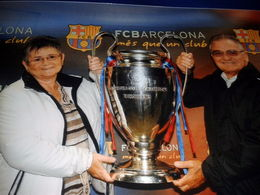 Graham and Angela with Champions trophy , Grange J - December 2012