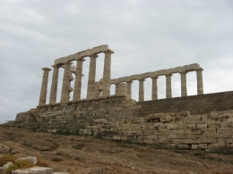 A veiw of the Temple of Posidon at the end of Cape Sounion - May 2010