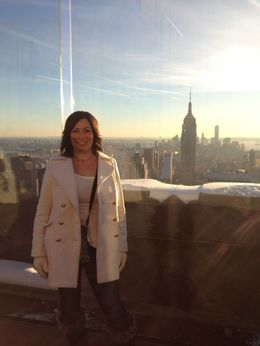 This is a view of NYC from the Rockefeller Center and quot;Top of the Rock and quot; Observation Deck , Brandy M - January 2014
