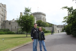My husband and I at the entrance to Windsor Castle., Kristen D - June 2010