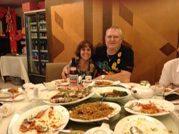 Having dinner with my husband and 8 other people. The food was fantastic and so was the company!! , Arlene J - July 2013