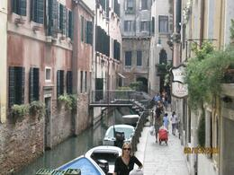Here are a couple of methods of daily transport in Venice. You can walk or take your boat. - February 2010