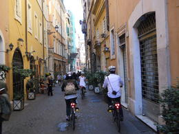 Photo of Rome Rome City Bike Tour Beautiful side streets