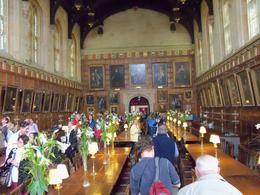 Look familiar? Dining hall at Oxford, but you may have recognized it from the Harry Potter films. , Robert L - July 2012