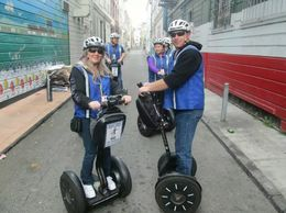 Here we are ready to prowl the town with our new skills on the Segways , Michele M - March 2015