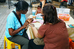 Photo of   Getting a henna paint work in Little India, Kuala Lumpur