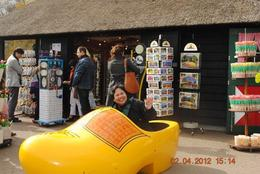 Photo of Amsterdam Keukenhof Gardens and Tulip Fields Tour from Amsterdam Giant Dutch Clogs