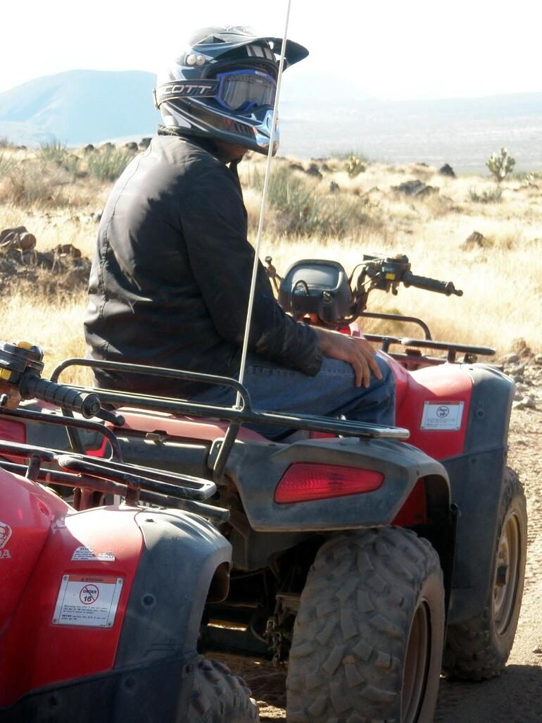 Gurinder on his ATV - Las Vegas