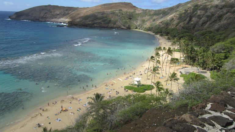 Hanauma Bay from above - Oahu