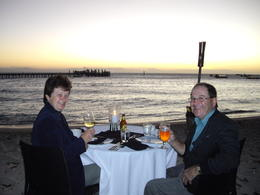Dinner on the beach, Green Island , Bozena P - July 2011