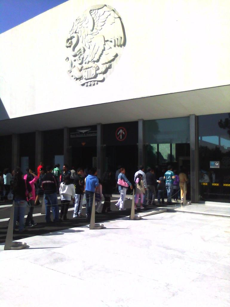 Line Waiting to get in to the Anthropology Museum - Mexico City