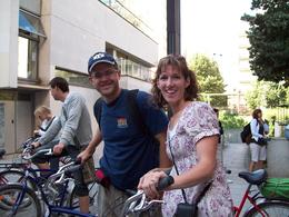 "Our guide commonly referred to our bikes as ""steeds"". Here we are getting ready to mount up and ride off., John G - July 2008"