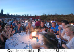 Photo of Ayers Rock Sounds of Silence Restaurant Our table at the Sounds of Silence dinner