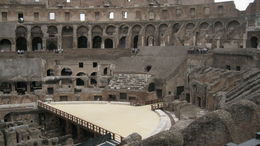 Photo of Rome Rome Super Saver: Colosseum and Ancient Rome with Best of Rome Afternoon Walking Tour Partial wooden floor in Colosseum