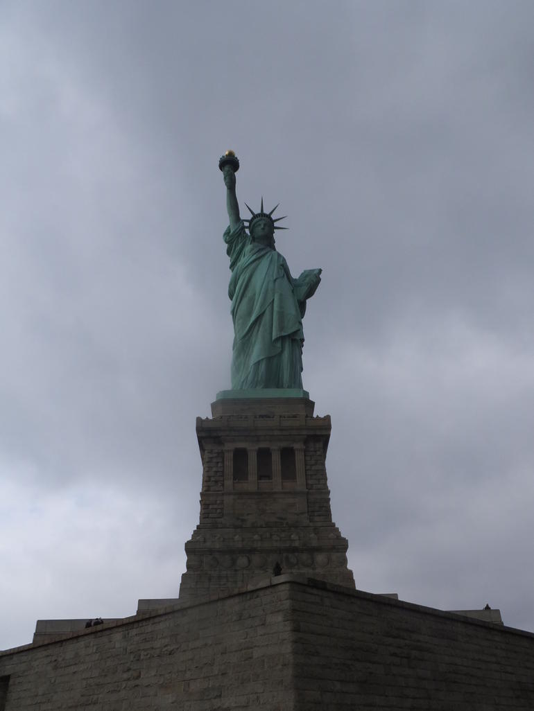 Statue of Liberty on a rainy day, but itwas still amazing. - New York City