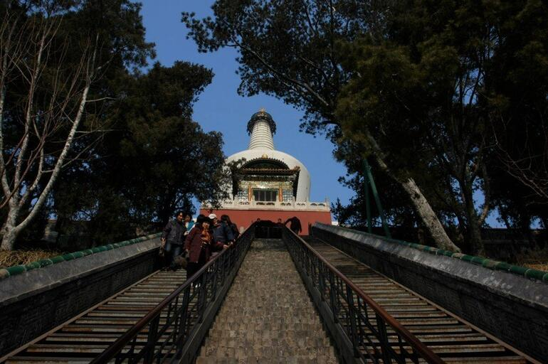Steps to the Miaoying Si (White Stupa Temple) - Beijing