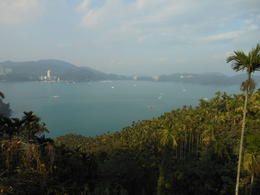 View of Sun Moon Lake from Ci En Pagoda . Built by President Chiang Kai-shek in honor of his mother. , Barry S - January 2013