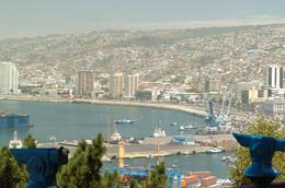 Photo of Santiago Private Tour: Vina Del Mar and Valparaiso Day Trip from Santiago view of vinas del mar from valparaiso