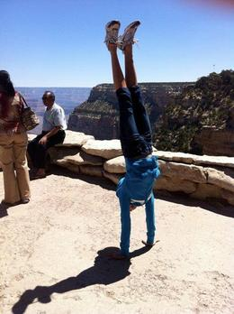 Handstand with the Grand Canyon in the back ground, Mo Burns - June 2011