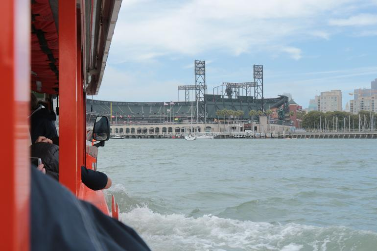 AT and T park from the water. - San Francisco