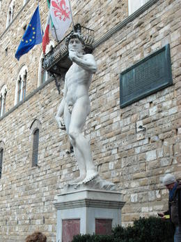 "A copy of ""David"" the famous statue by Michelangelo. The original is housed in the Academia museum. , Jerrid322 - November 2012"