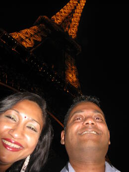 Photo of Paris Eiffel Tower, Paris Moulin Rouge Show and Seine River Cruise Me and My Hubby In Eiffel Tower