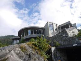 Photo of Juneau Juneau in One Day: Mendenhall Glacier, Whale Watching and Salmon Bake Medenhall observation deck