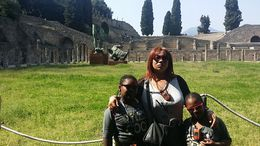 Myself and kids at the ruins. , Emily O - April 2016