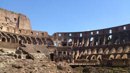 The photo was taken inside of the Colloseo. , Dani - April 2013