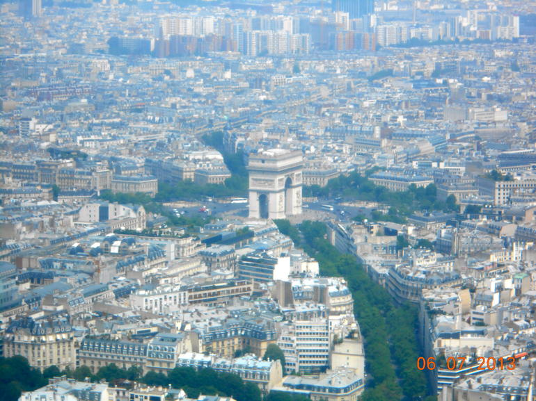 View from atop the Eiffel Tower - Paris