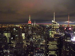 This was our view in the evening from the top of the rock. , Sarah M - December 2014