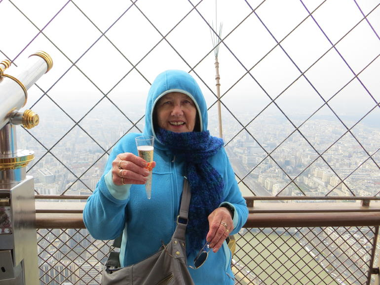 Champagne at the top - Paris