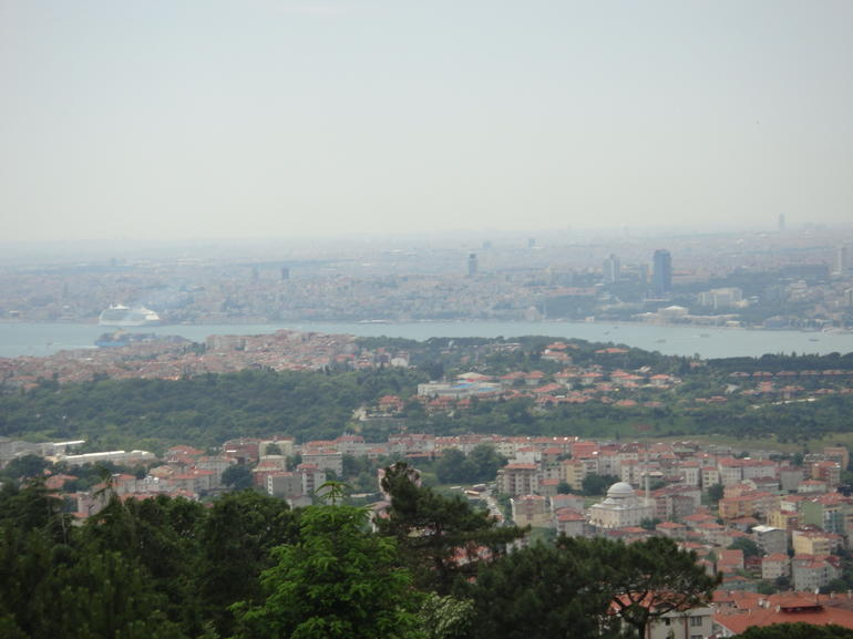 Istambul and the Bosphorus from Camlica Hill on the Asian side of the city.