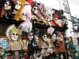 These masks were for sale near the park. - February 2010