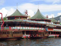 One of the two floating restaurants on Aberdeen Harbor. , BethanieKay - July 2014