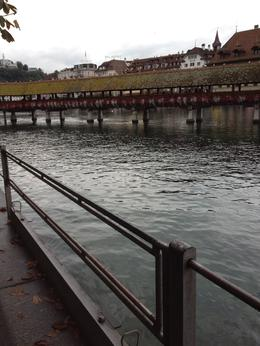 This is the footbridge in Lucerne and it is absolutely amazing with its floral cover. , Peter M - November 2012