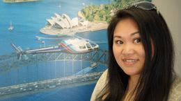 Me at the lobby of Sydney HeliTours...pre-flight excitement!!! , Hdawg - January 2012