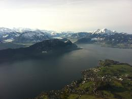 Fantastic views over Lake Lucerne from Mount Rigi, isa - March 2013