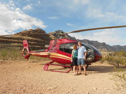 My wife and I posing while our pilot took our picture! , Michael M - July 2013