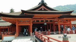 A beautiful Shinto Shrine with its famous red floating torii gate dating back to the 6th century damaged many times. Present shrine complex dates back to the mid16th century believed followed from a ... , Catherine C - May 2015