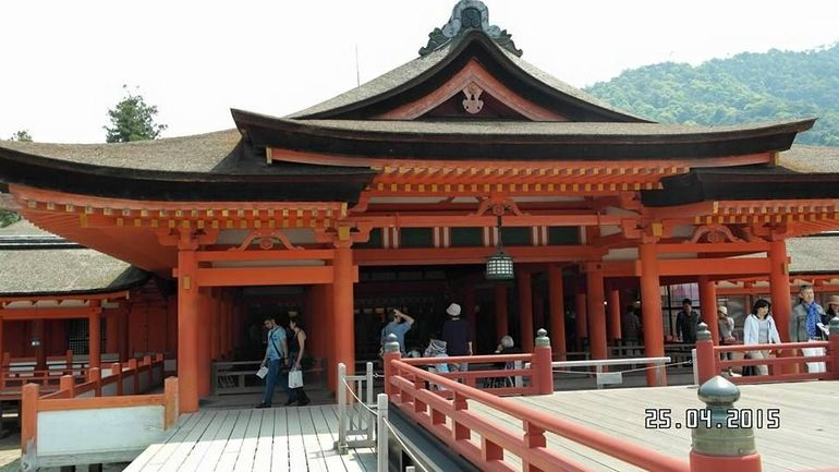 A beautiful Shinto Shrine with its famous red floating torii gate dating back to the 6th century damaged many times. Present shrine complex dates back to the mid16th century believed followed from a design from the 12th century. It is listed as a UNESCO WORLD HERITAGESITE and a must-see.