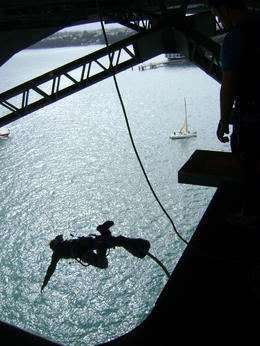 Photo of Auckland Auckland Harbour Bridge Bungy Jump Jumping off the Auckland Bridge!