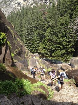 Other hikers on the way up to the waterfall, Melinda - August 2014